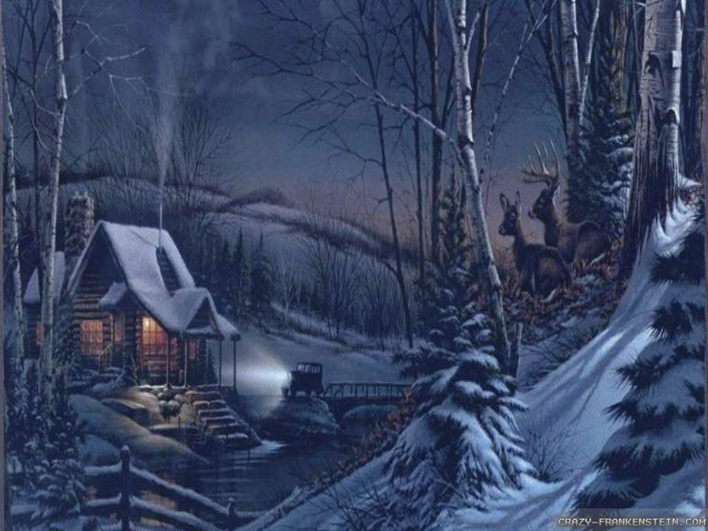 free christmas cabin wallpaper wallpapersafari