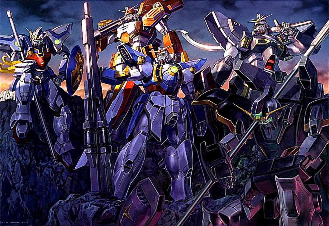 Gundam Wings Shadow Art Anime Wallpaper hd phone wallpapers 1056x727
