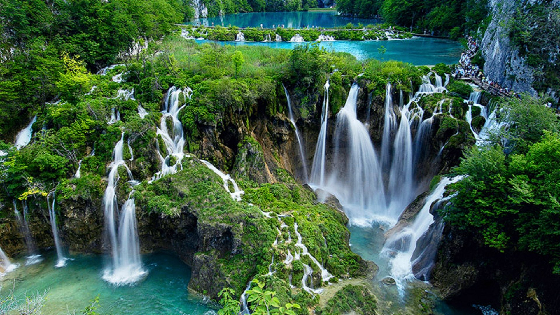 Plitvice Lakes National Park Croatia [1920X1080] wallpaper 1920x1080
