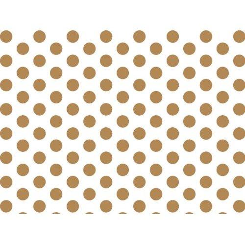 Amazoncom Gold White Polka Dots Tissue Paper 20 X 30   24 Sheets 500x500
