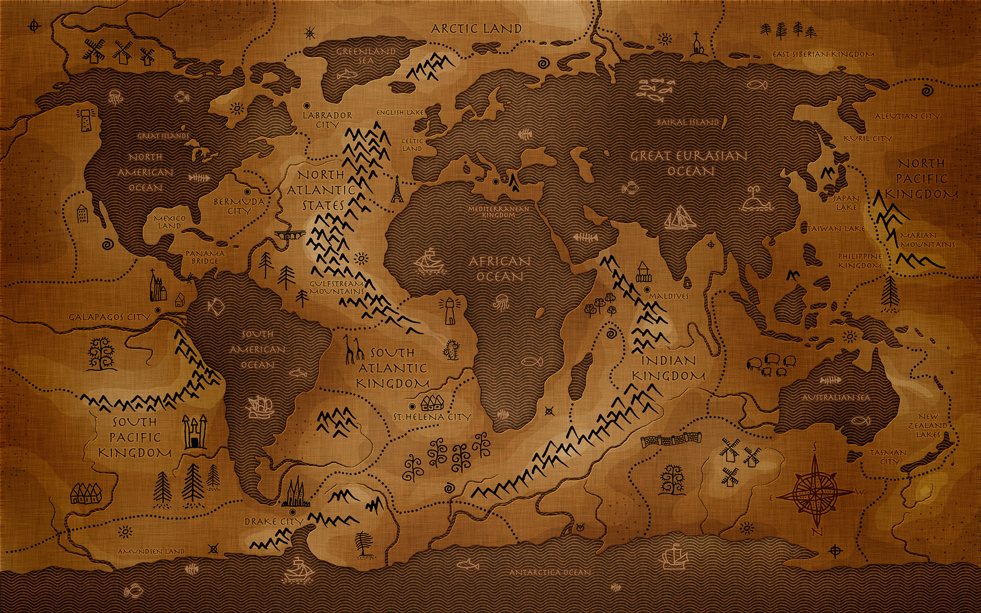 Old World Map Desktop Wallpaper 47 images 1920x1200