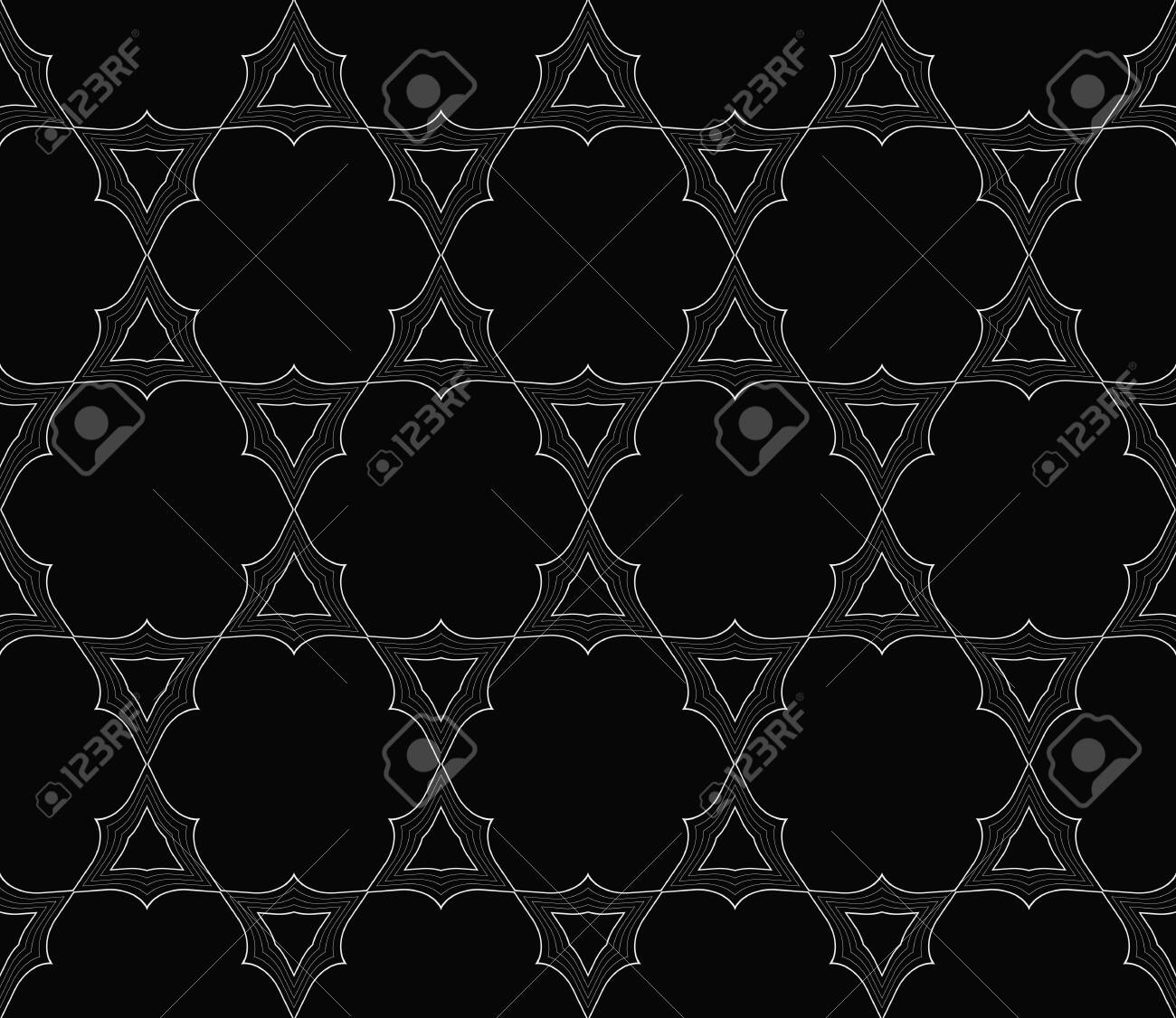 Black And White Geometric Seamless Pattern Simple Regular 1300x1126
