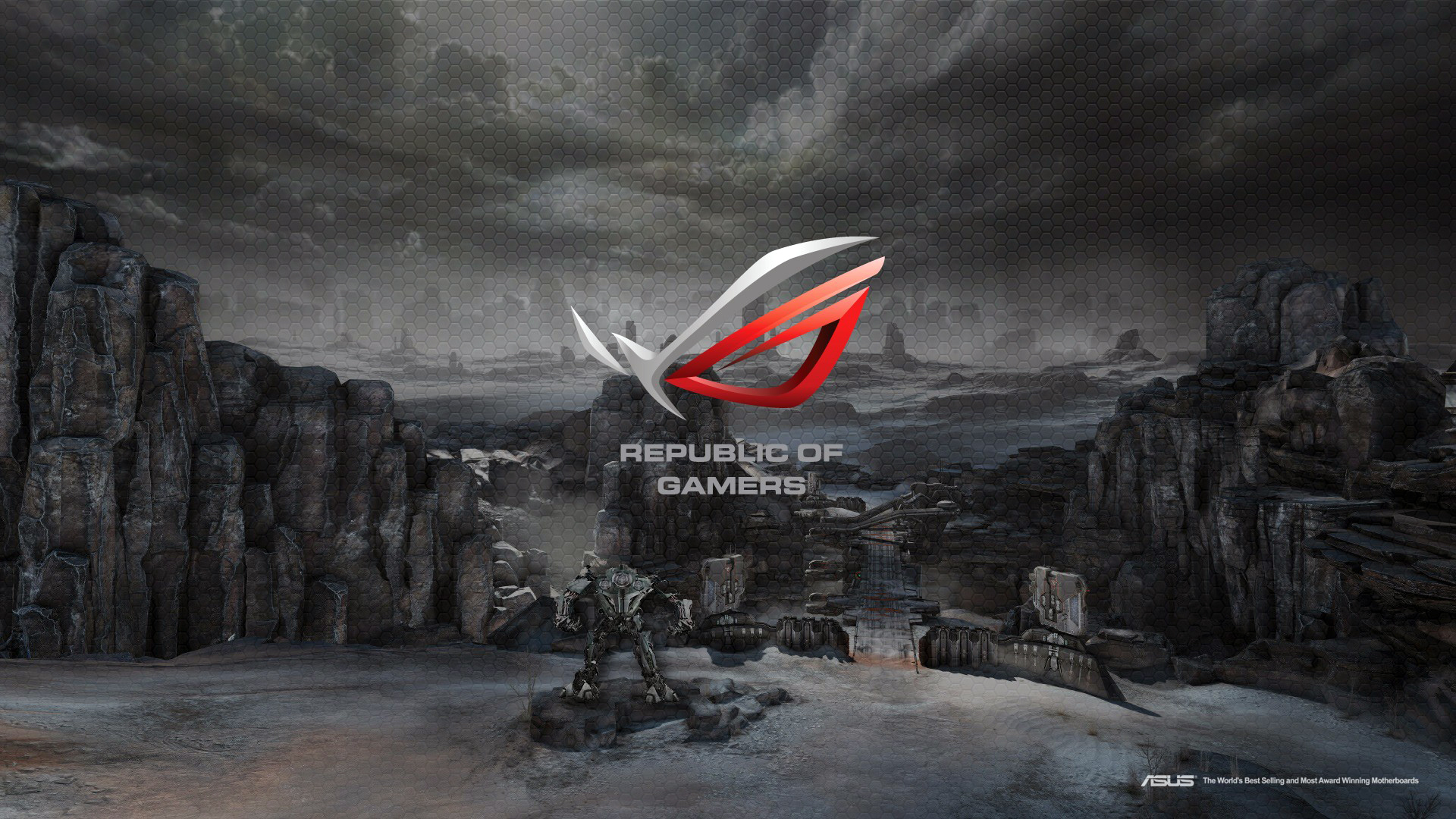 asus rog republic of gamers logo hd 1920x1080 1080p wallpaper and 1920x1080