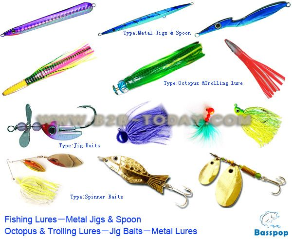 Different fishing lures for Types of fishing lures