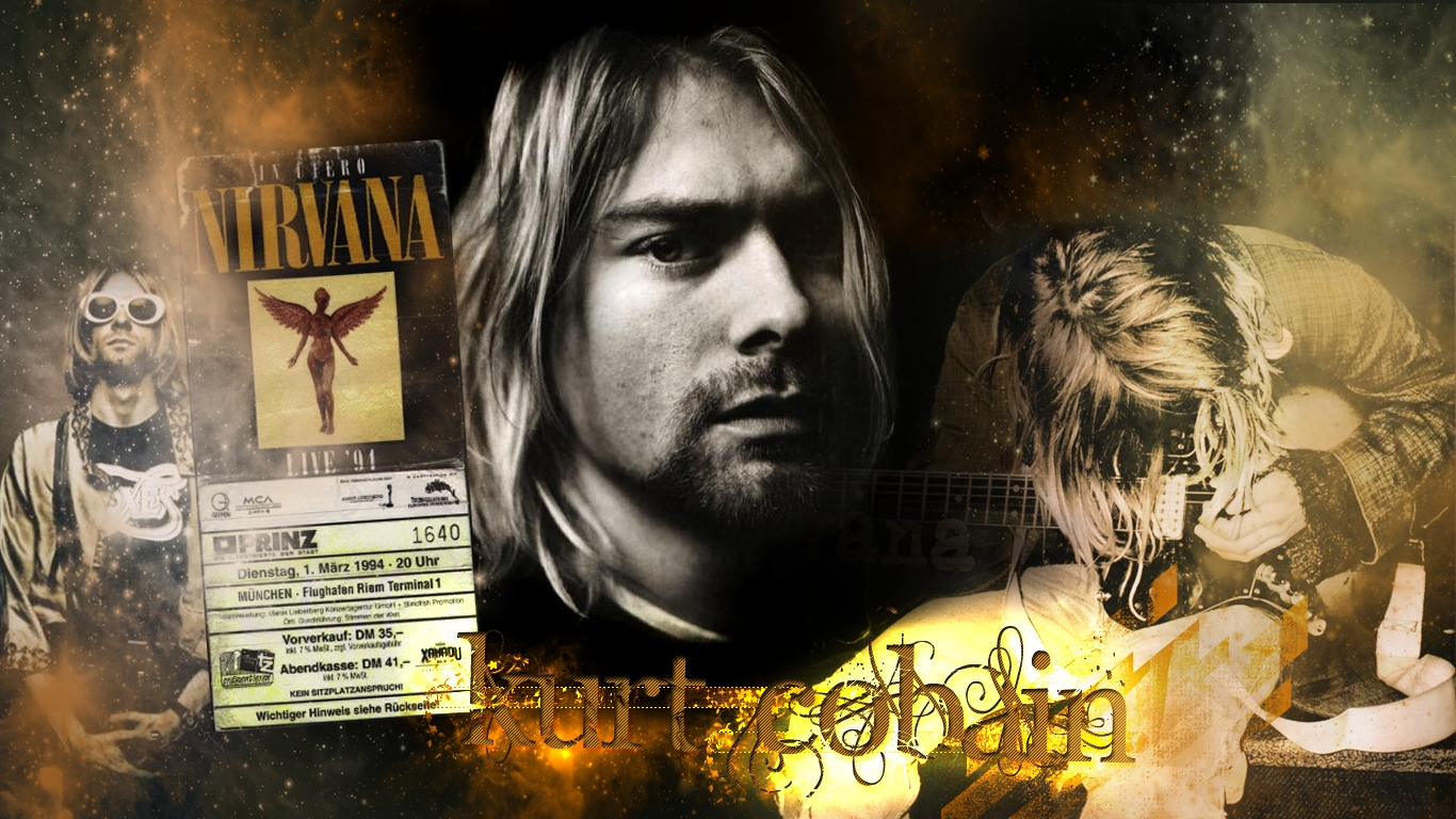 Kurt cobain wallpaper wallpapersafari - Kurt cobain nirvana wallpaper ...