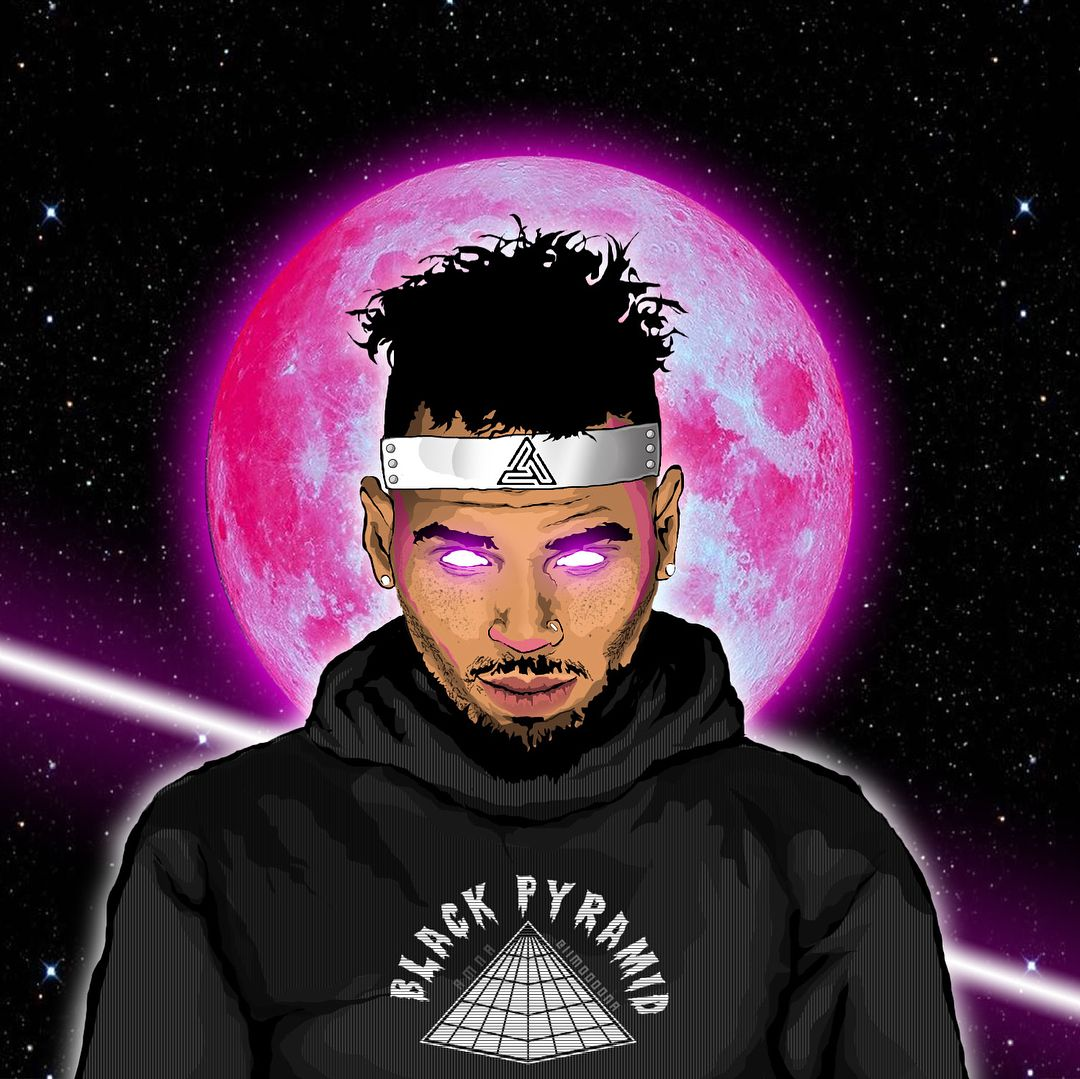 Black pyramid Chris Brown Chris brown art Chris brown 1080x1079