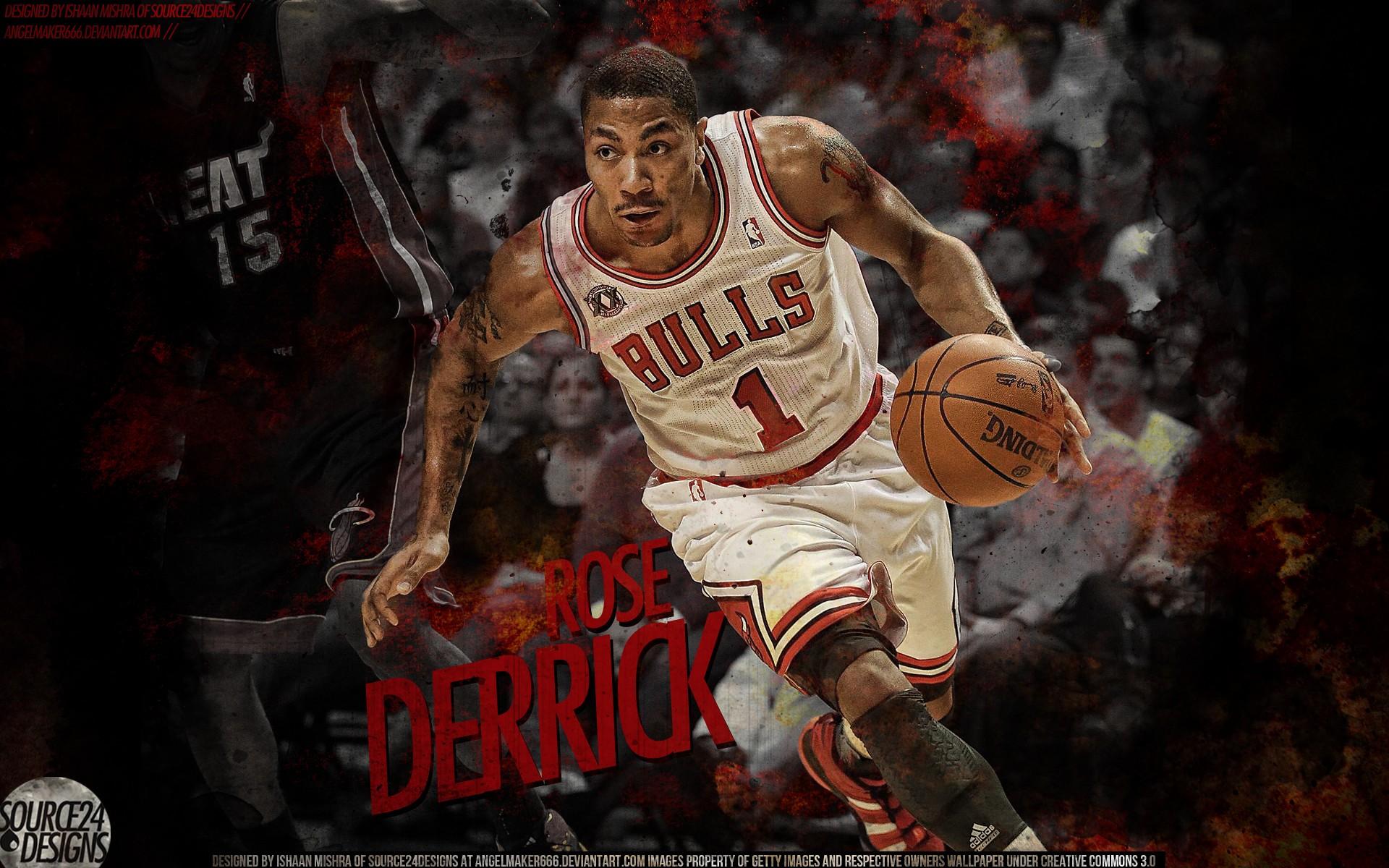 Derrick Rose Playing Basketball Hd Wallpaper Wallpaper List 1920x1200