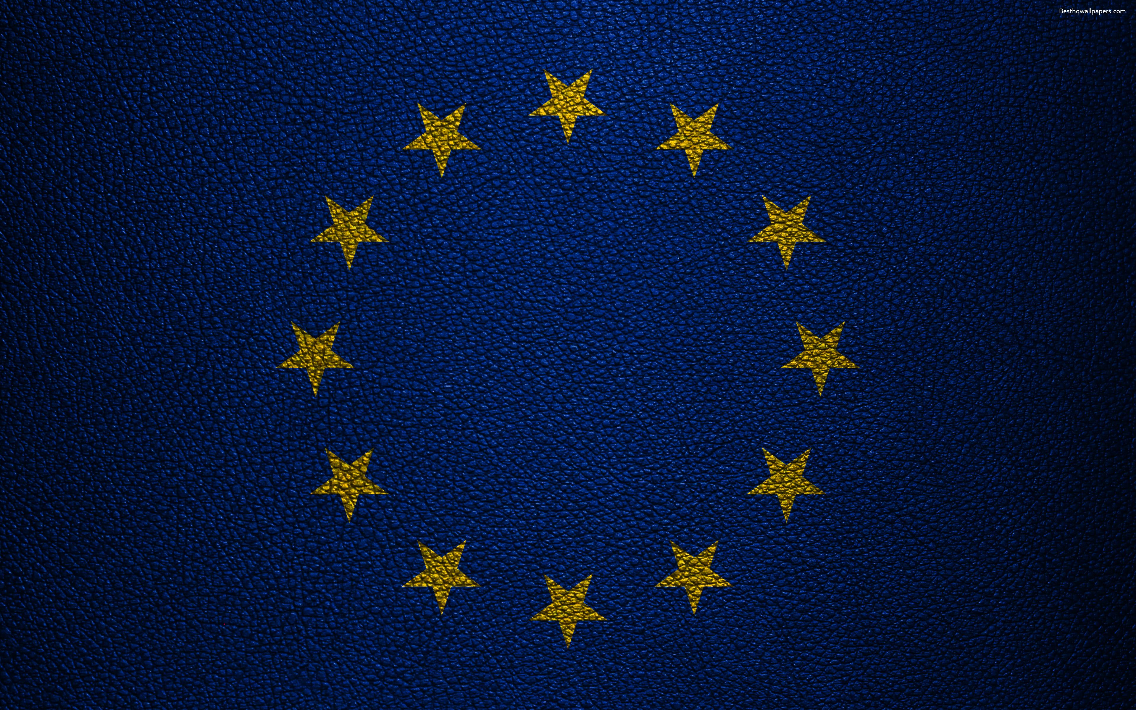 Download wallpapers European Union Flag 4K international 3840x2400
