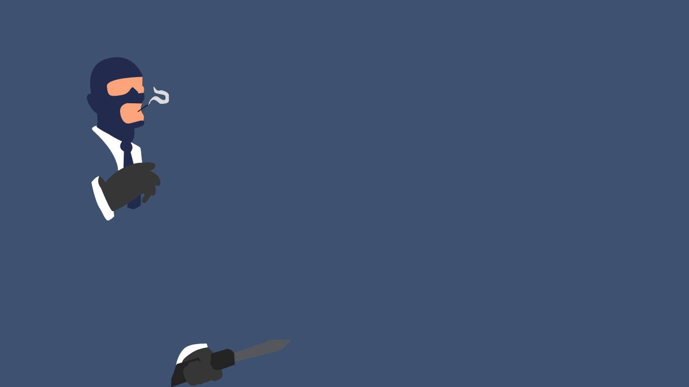 Spy Wallpaper A minimalistic Team Fortress 2 wallpaper with the Spy 1366x768