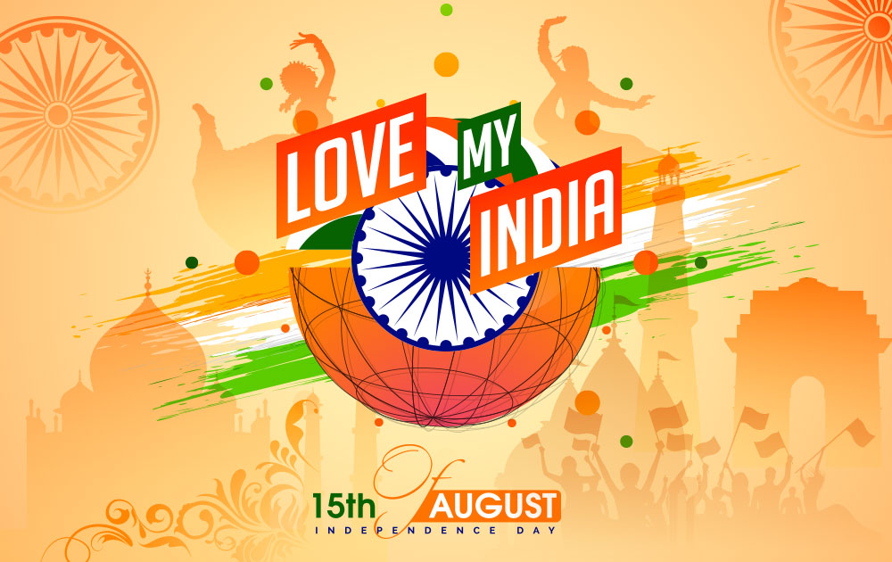 India Independence Day Wallpaper Psd   Happy Independence Day 1000x630
