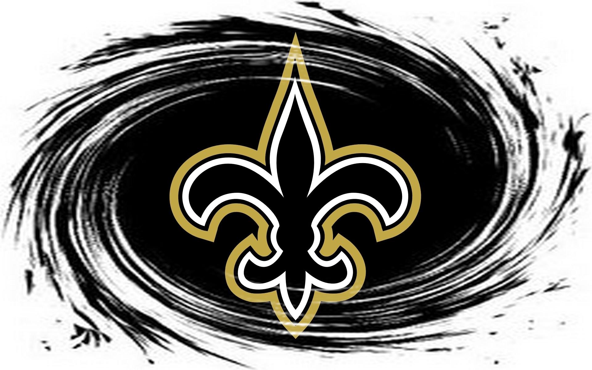 Saints Logo Whirlpool Black 1920x1200 WIDE NFL New Orleans Saints 1920x1200