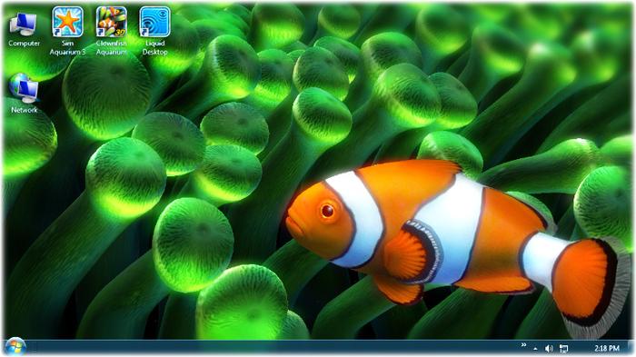 windows 7 desktop live fish wallpaper 700x393
