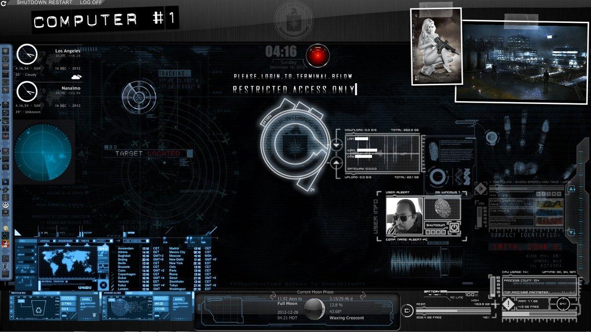 Cool Spy Desktop Theme Wallpaper 1191x670