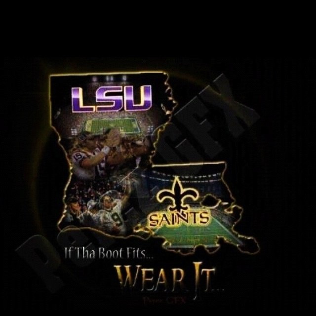 New Orleans Saints LSU Tigers baby LSU Saints and NASCAR Pin 640x640