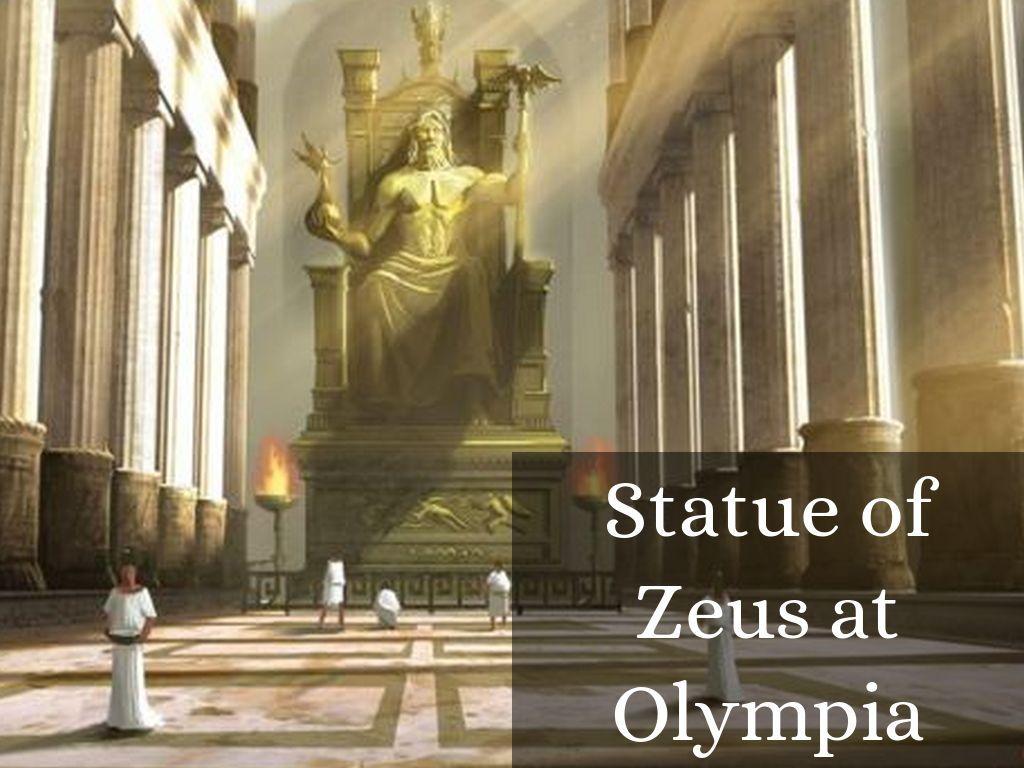 Olympia Wallpaper Statue Zeus 1024x768