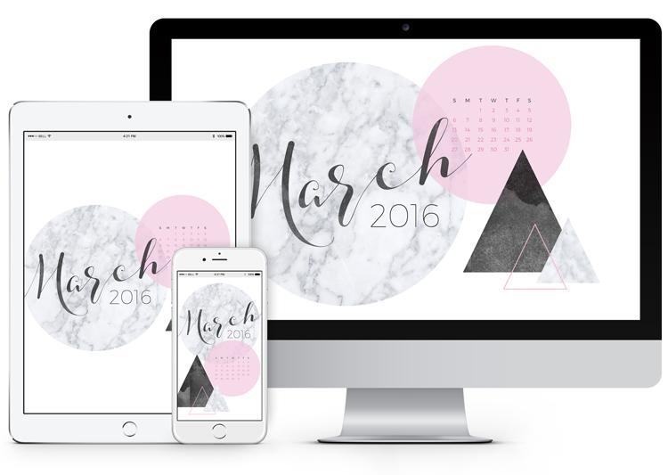 so you can download the March 2016 Desktop Calendar Wallpaper 750x533