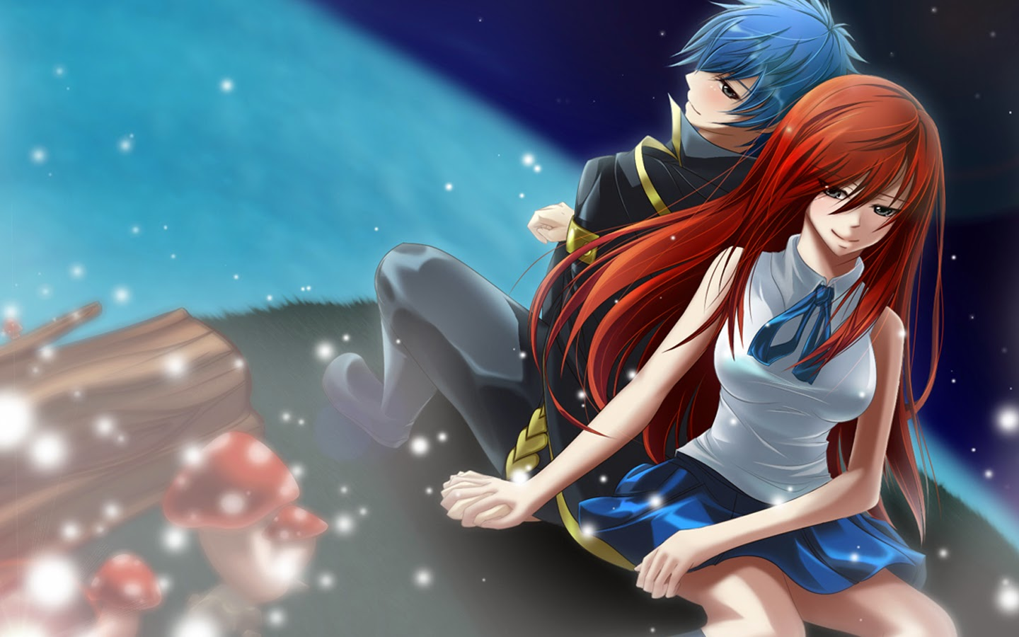 Sweet couple holding hands anime fairy tail hd wallpaper a12