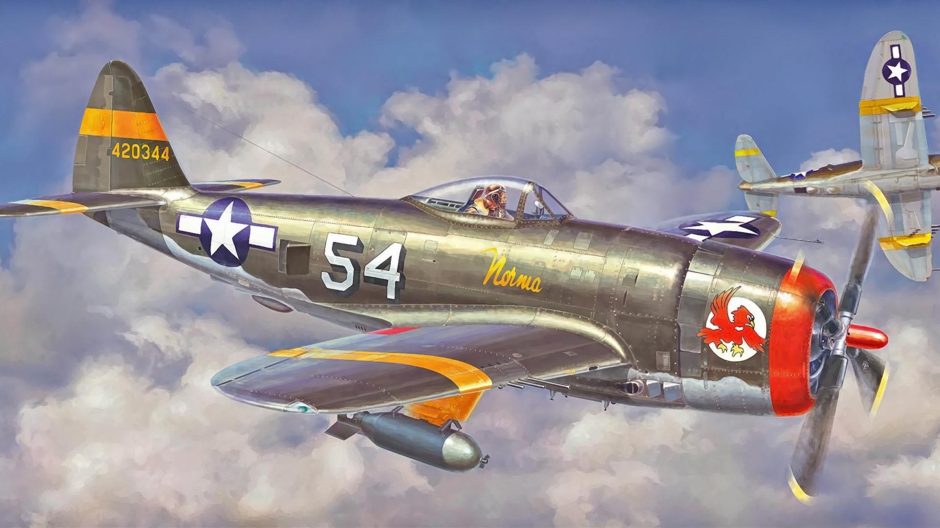 Download wallpaper 1920x1080 p 47 thunderbolt hasegawa fighter 1920x1080