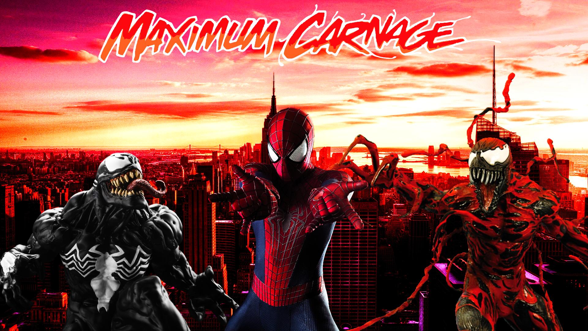 Spider Man and Venom Maximum Carnage Poster 3 by ProfessorAdagio on 1920x1080