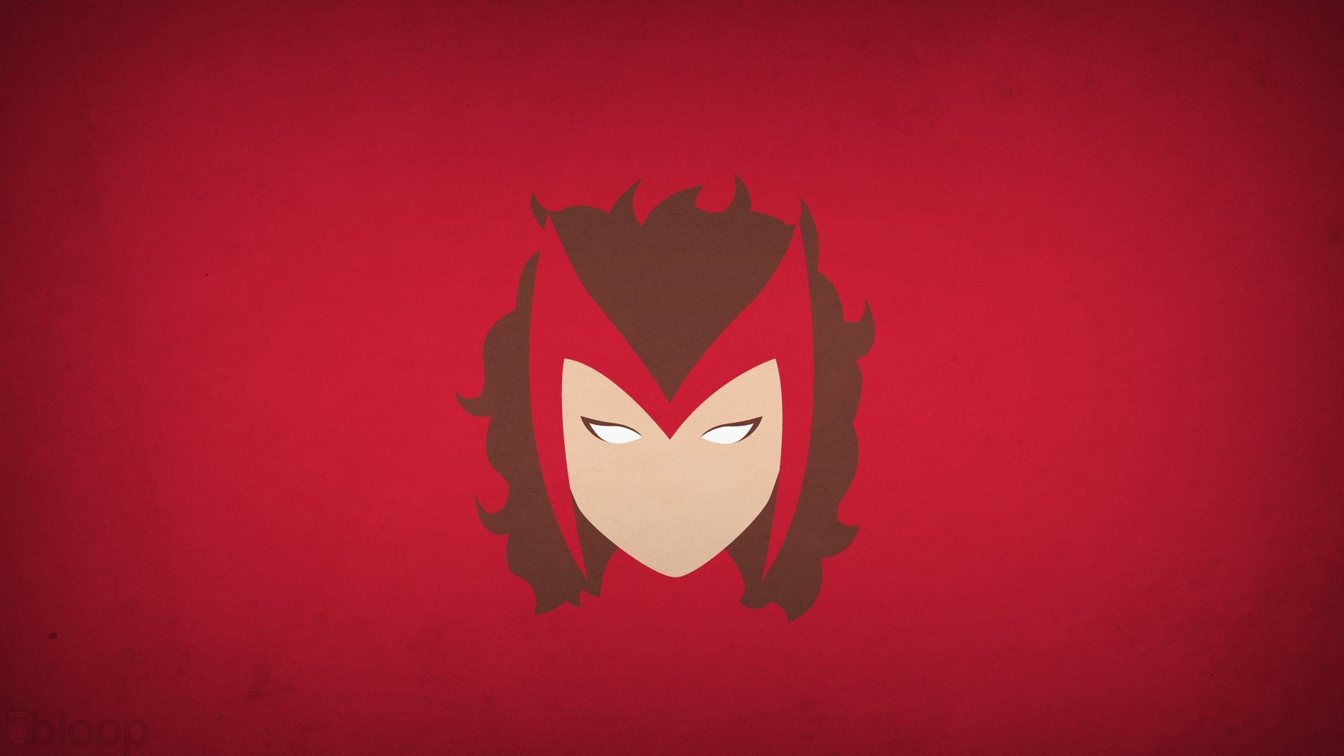 minimalistic superheroes Marvel Comics Scarlet Witch red background 1920x1080