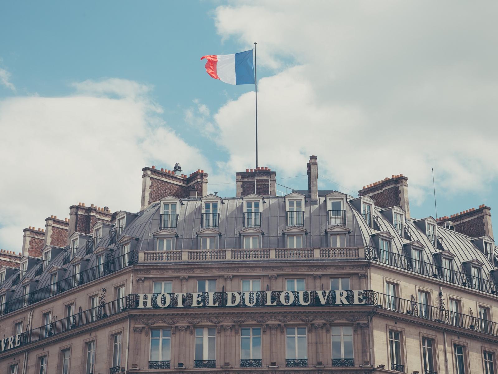 Download wallpaper 1600x1200 paris france hotel hotel du louvre 1600x1200
