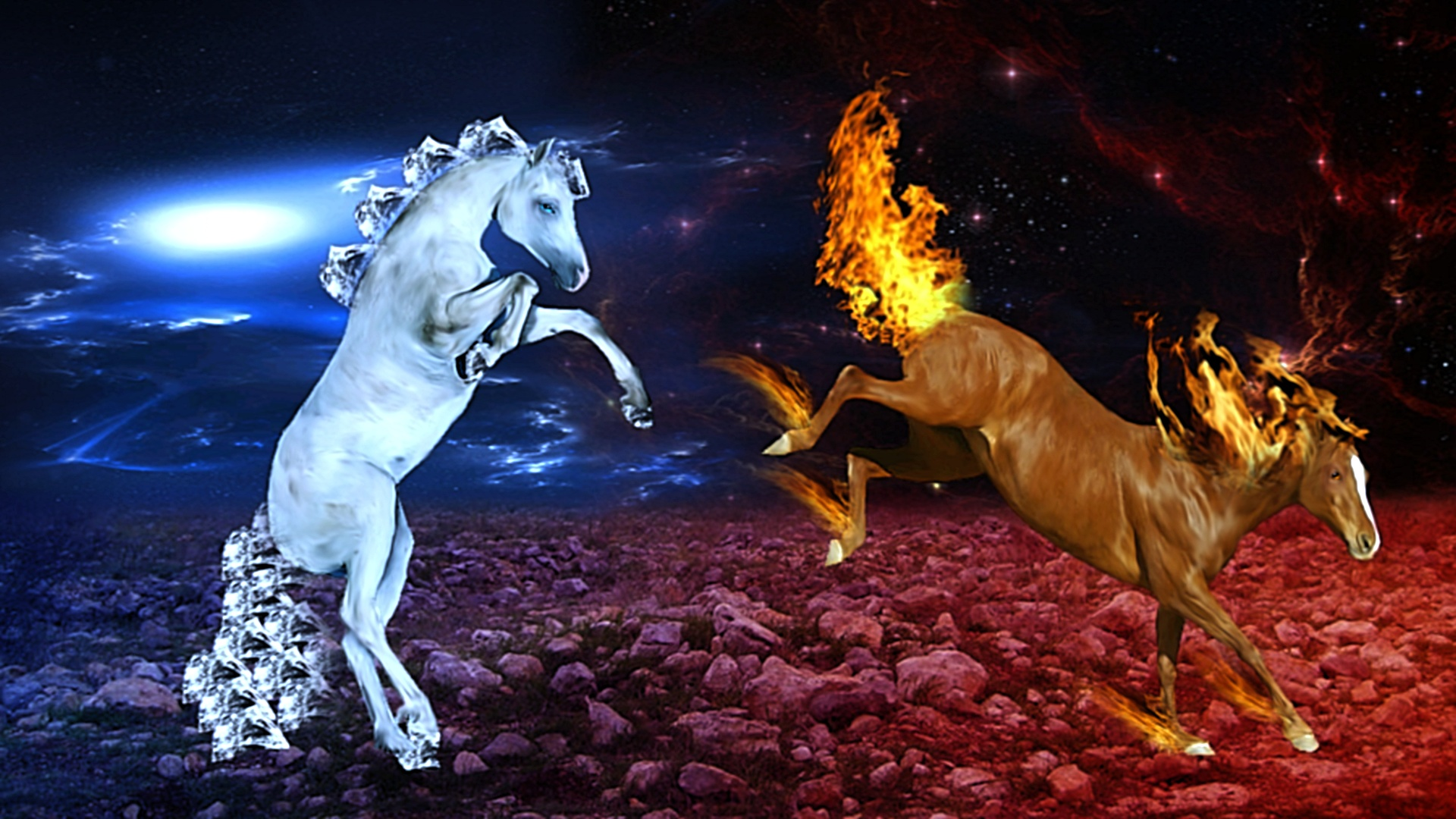 Blue Fire Horse Wallpaper Fire amp Ice FIRE AND ICE 1920x1080