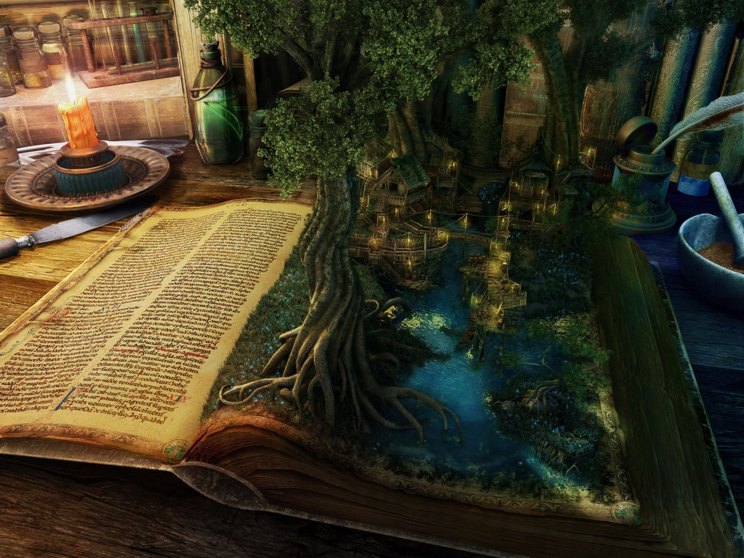 fantasy fantasy art books magic alchemy witchcraft 1920x1440 wallpaper 2560x1920