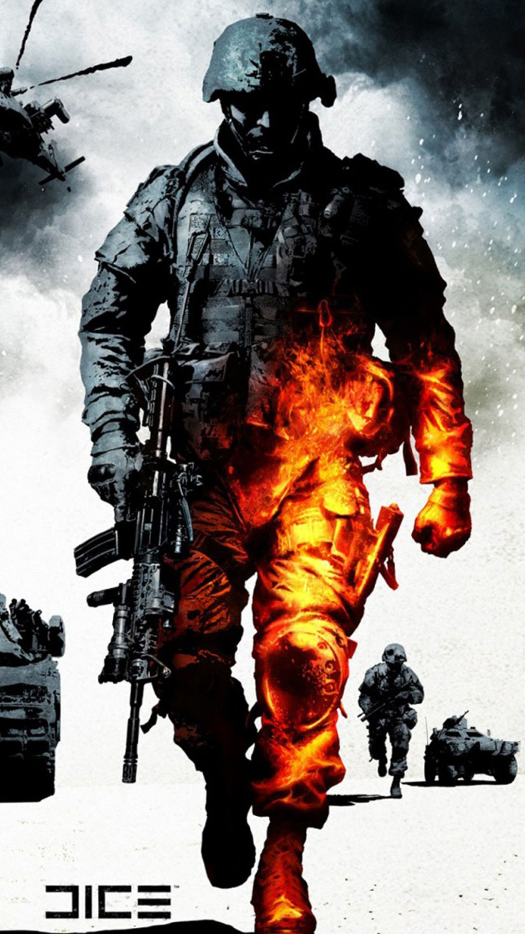 Military Burning Soldier iPhone 6 Wallpaper Download iPhone 1080x1920