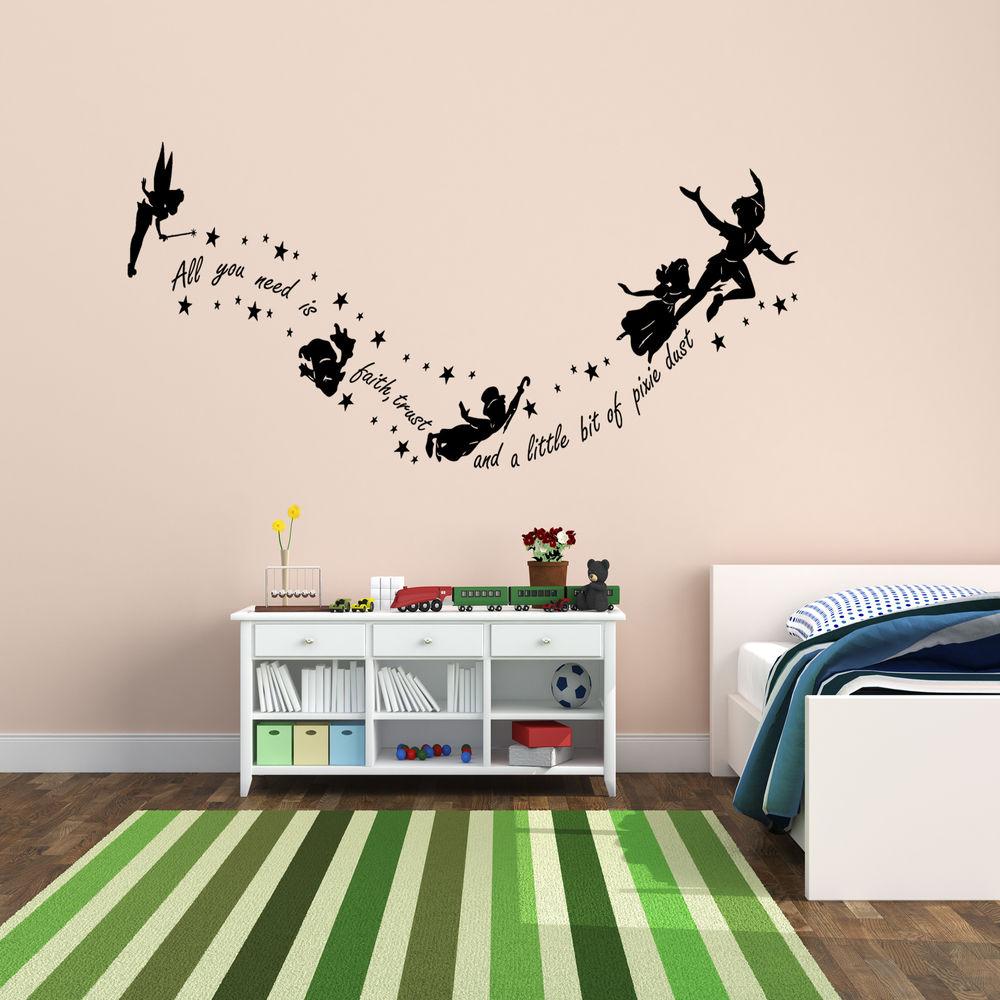 peter pan room wallpaper wallpapersafari. Black Bedroom Furniture Sets. Home Design Ideas