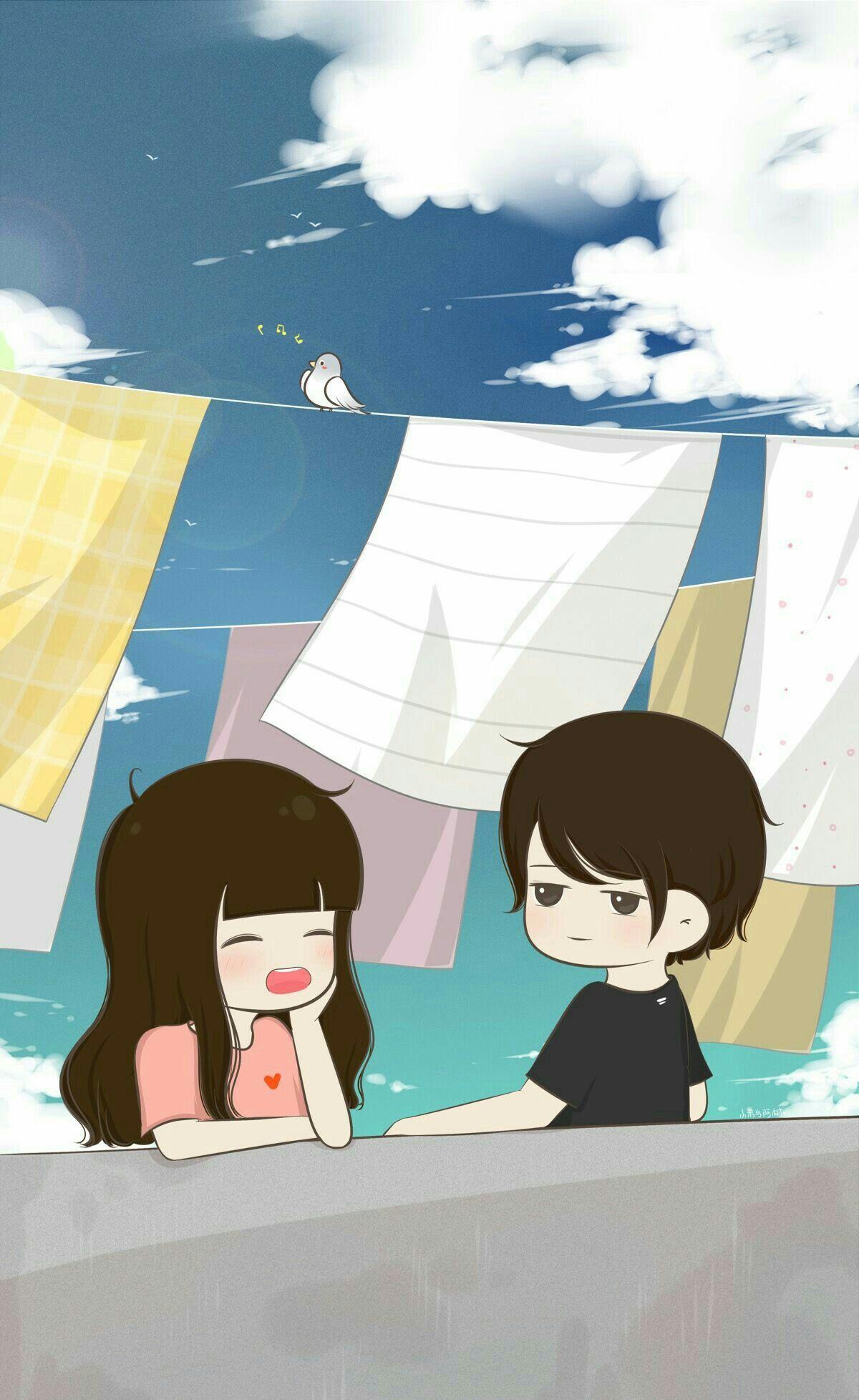 LOVE in 2020 Cute cartoon wallpapers Love cartoon couple 1200x1956