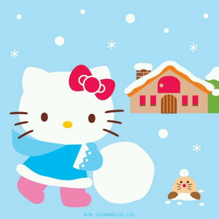 winter kitty LOVE HELLO KITTY Pinterest 720x720