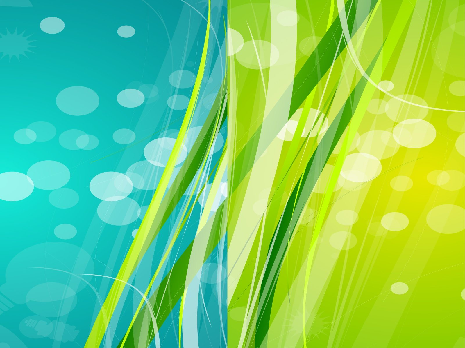 Powerpoint themes green and blue