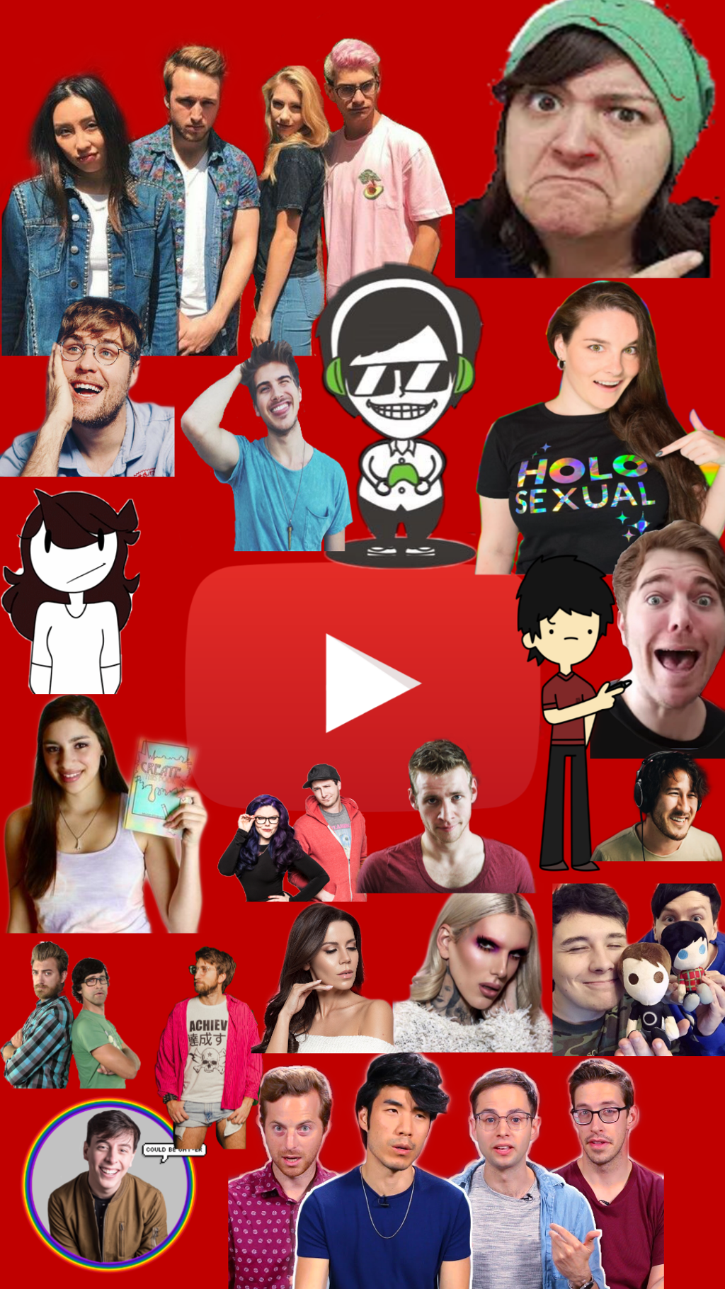 Youtubers Wallpaper posted by Zoey Johnson 1024x1820