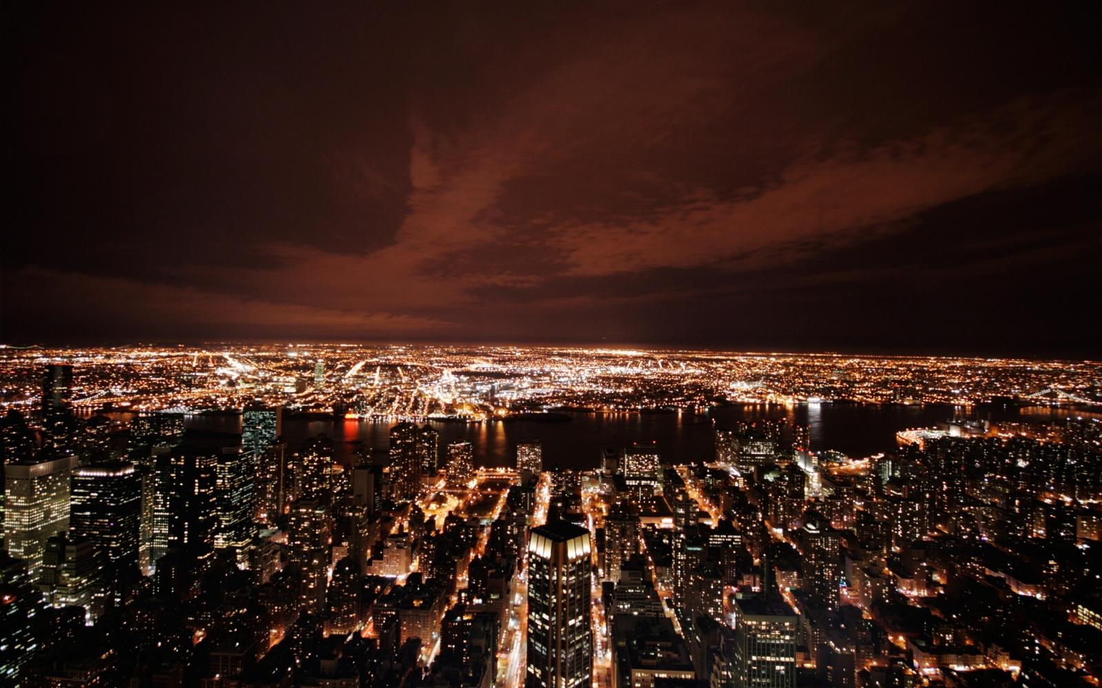 New York night Lights Wallpaper   7720 1600x1000
