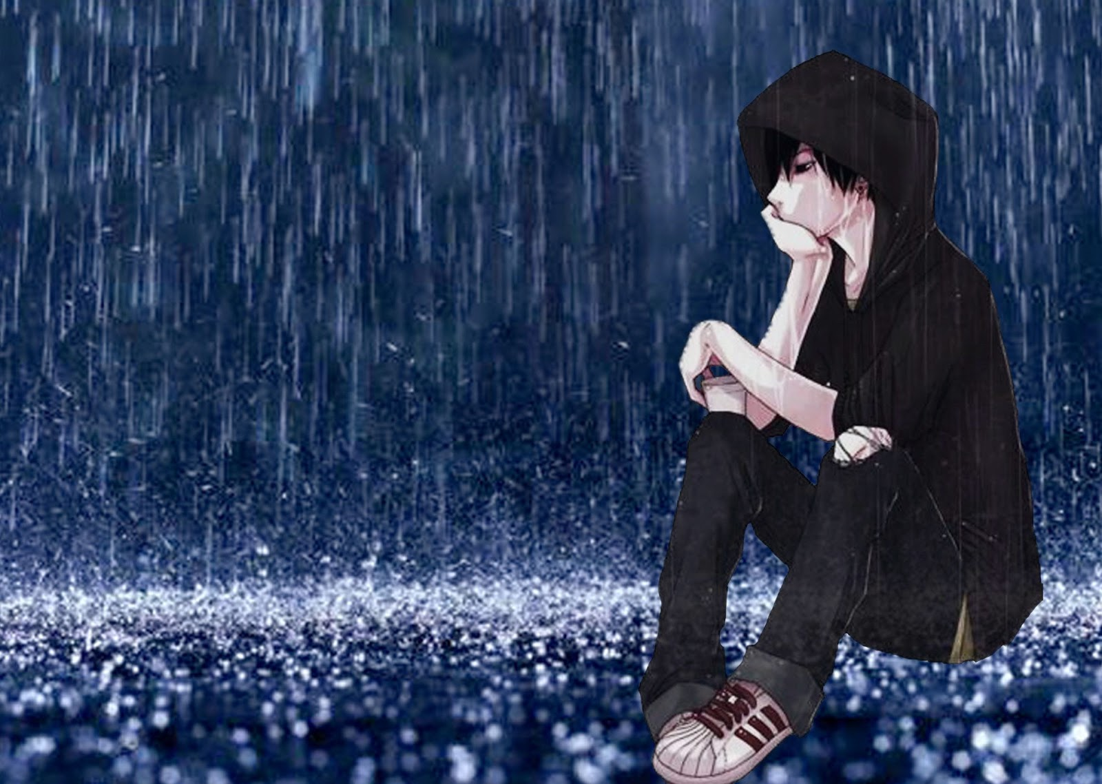 Alone Boy HD Wallpaper and Images Boy in rain 1600x1138