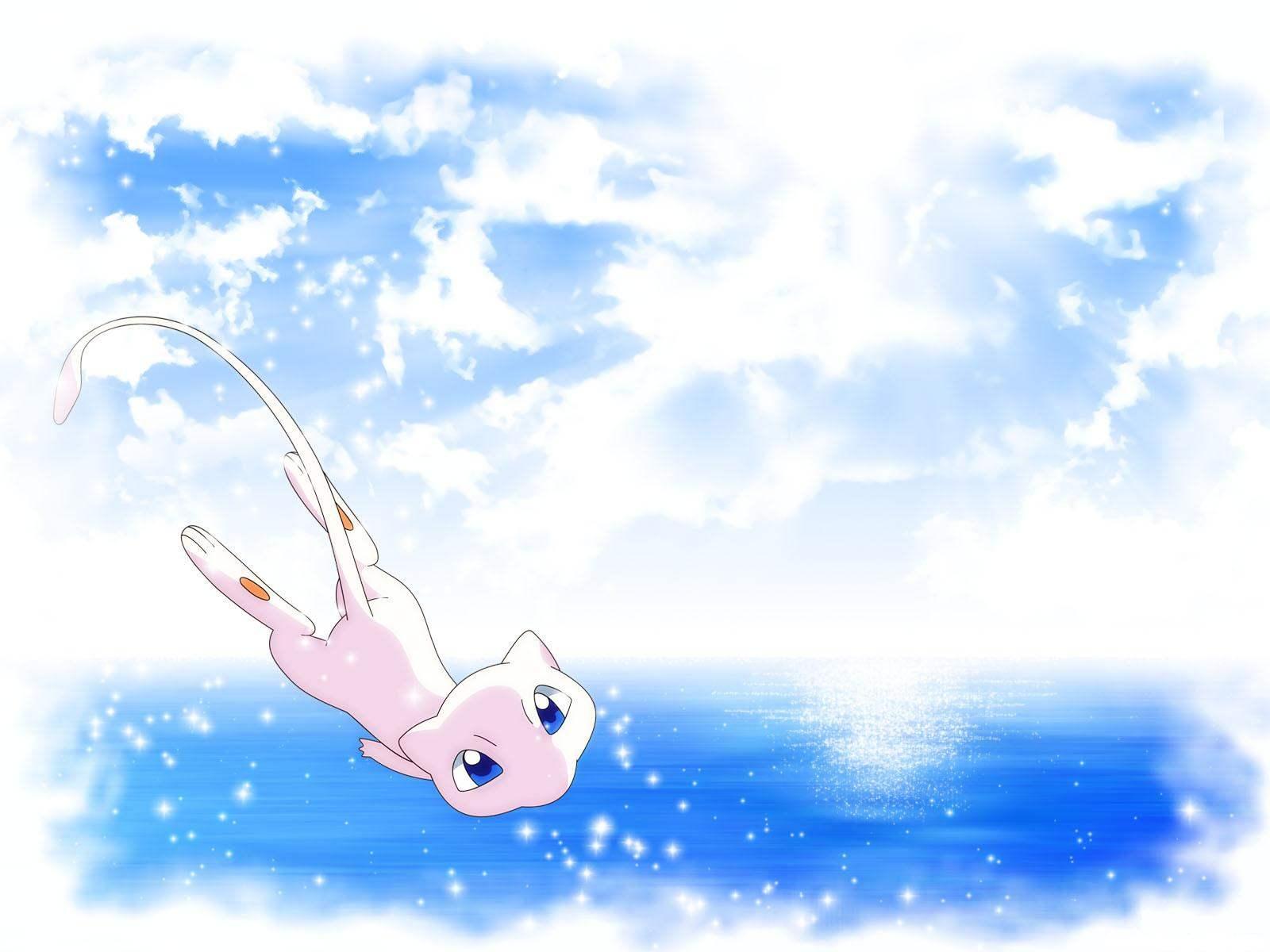 Download the Pokemon anime wallpaper titled Mew 2 1600x1200
