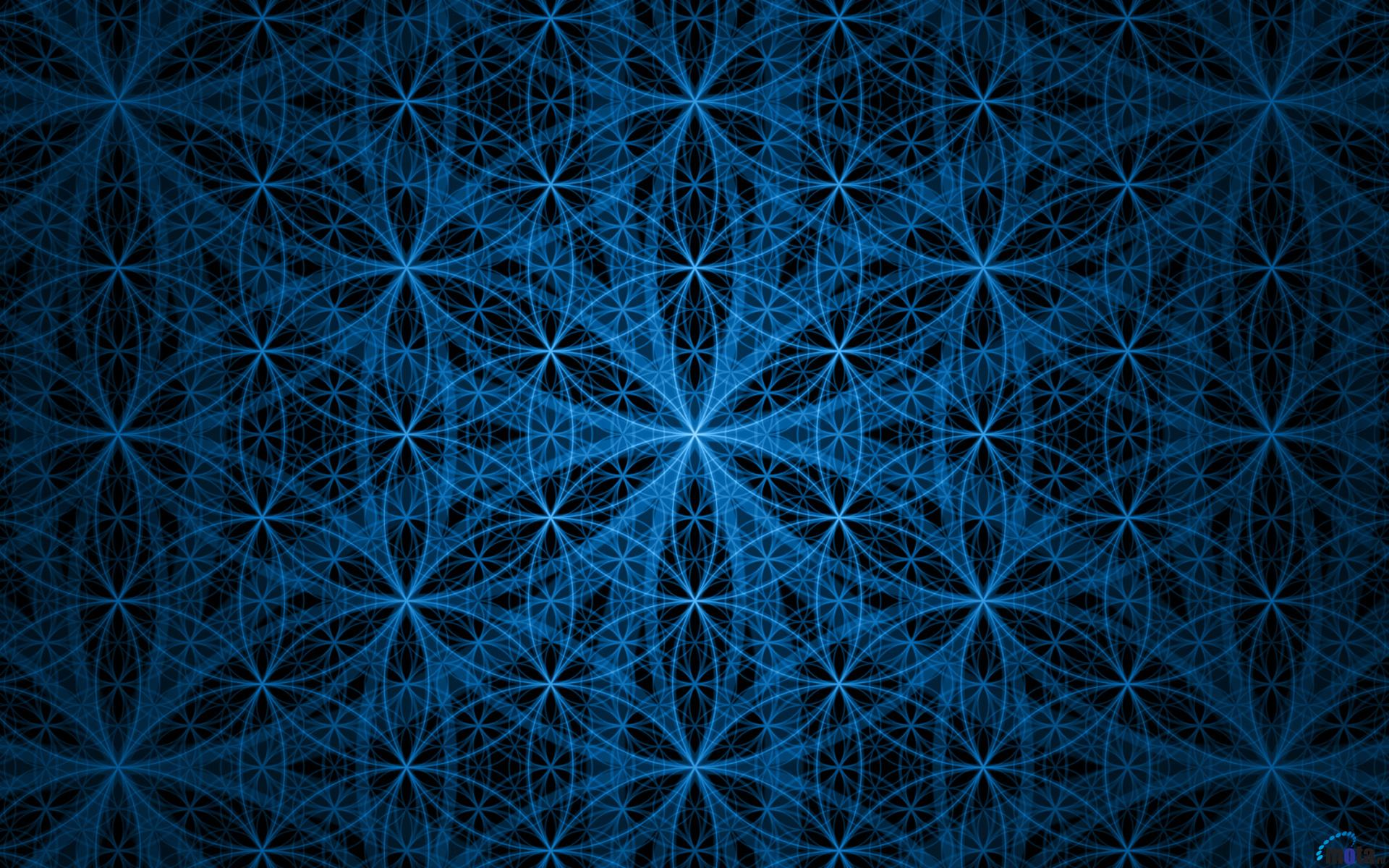 Wallpaper download life - Flower Of Life Blue