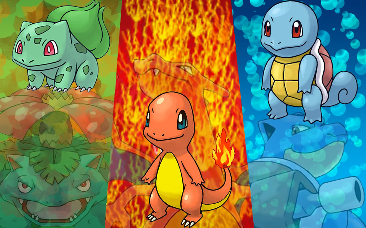 Pokemon starters wallpaper wallpapersafari - Louka pokemon ...