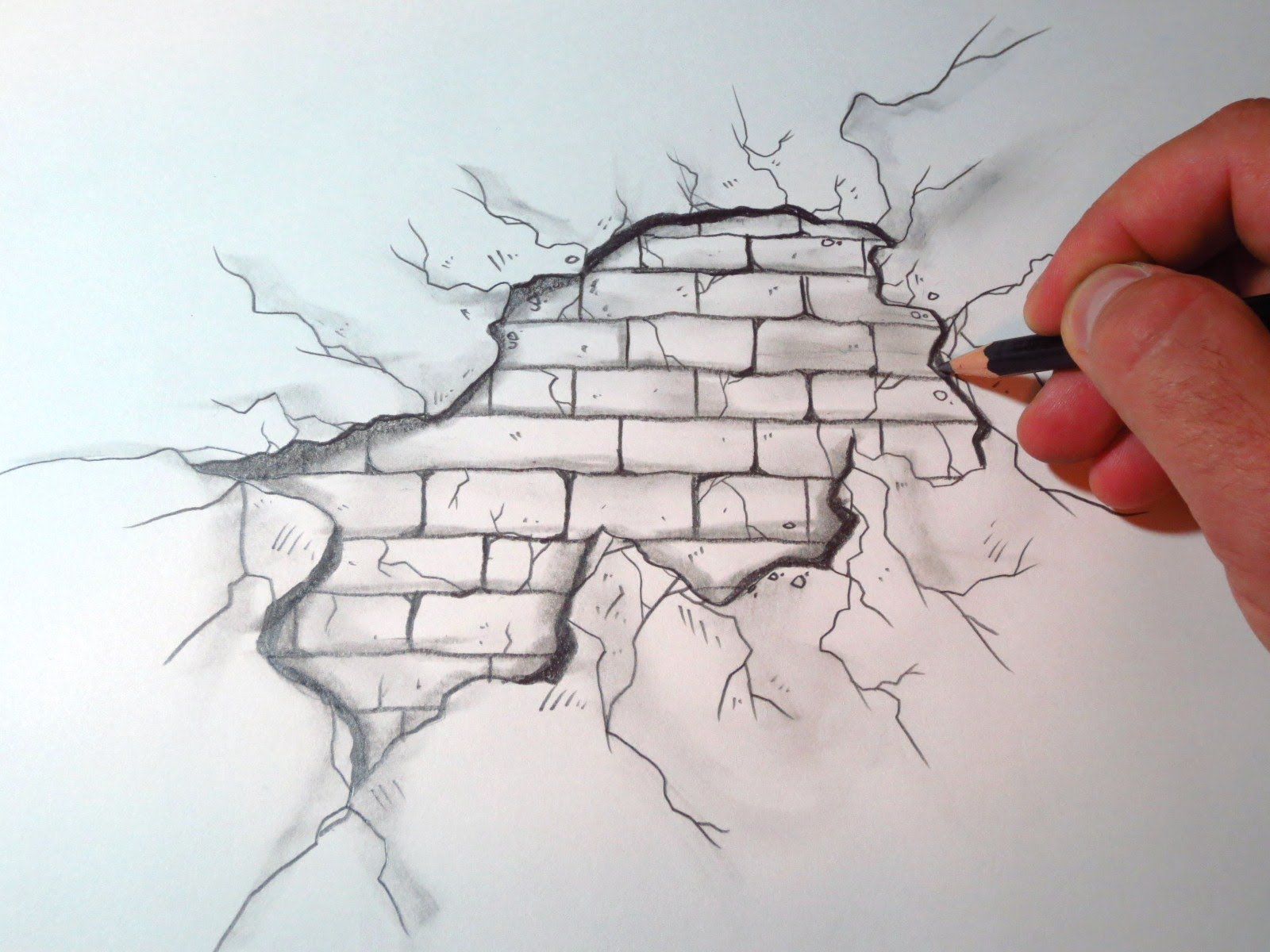 Free download How To Draw A Cracked Brick Wall The Original [1600x1200] for your Desktop, Mobile & Tablet | Explore 47+ Awesome Drawn Wallpapers | HD Drawing Wallpaper, Cute Drawn Wallpapers, Drawn