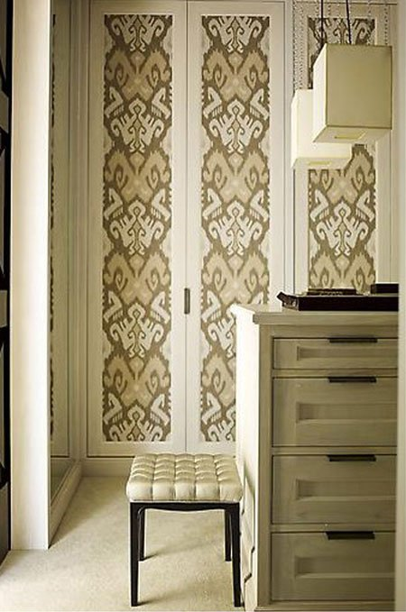 Closet Door Ideas Decorate your closet doors with wallpaper You can 450x679