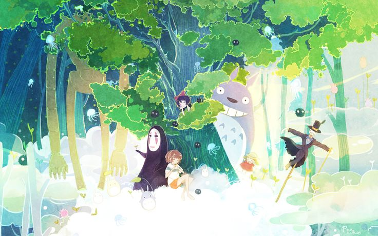 studio ghibli fanart wallpaper more studio ghibli idea not them 736x460