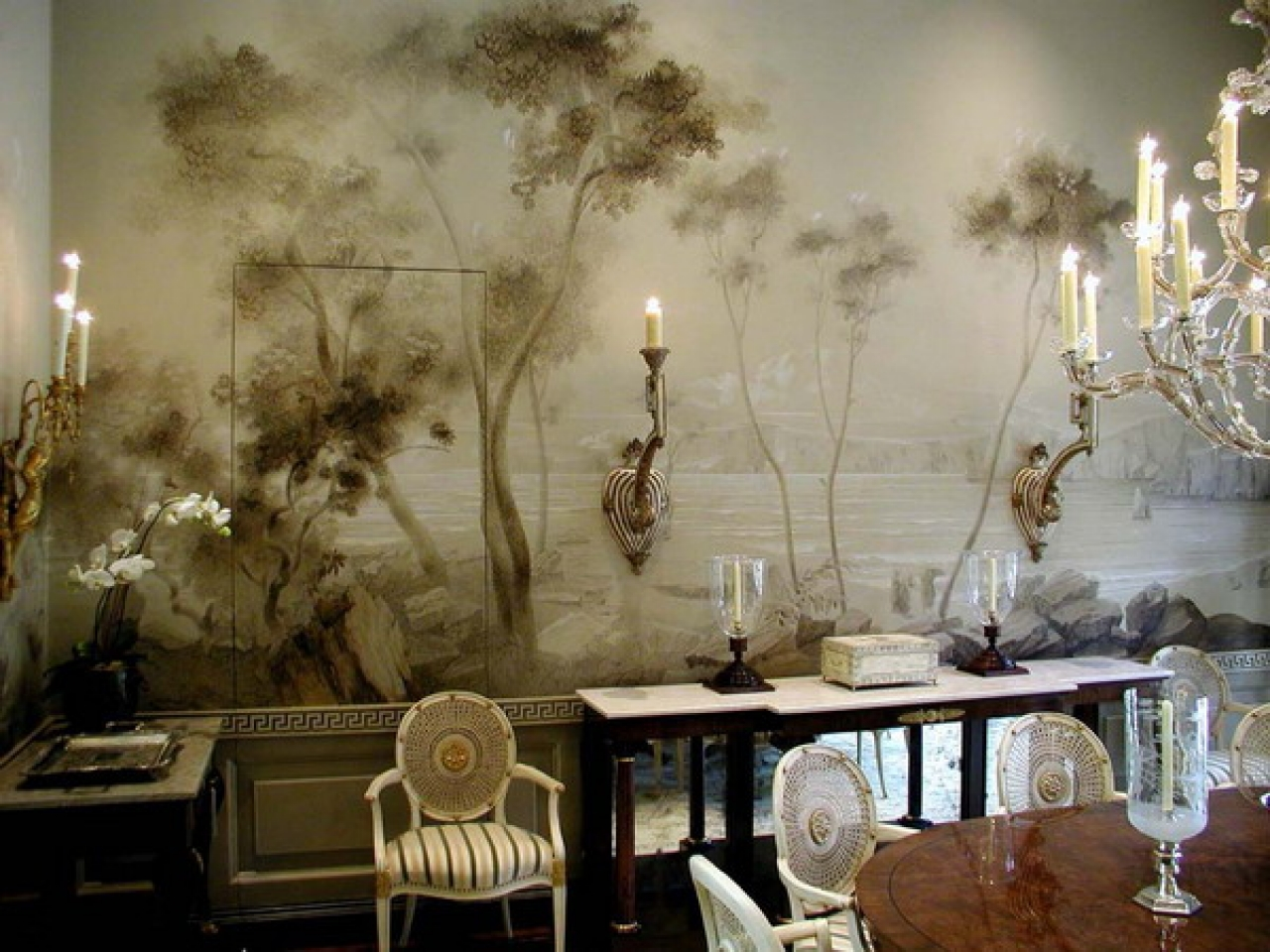 Classic dining room wall murals design ideas best wall murals and 1280x960