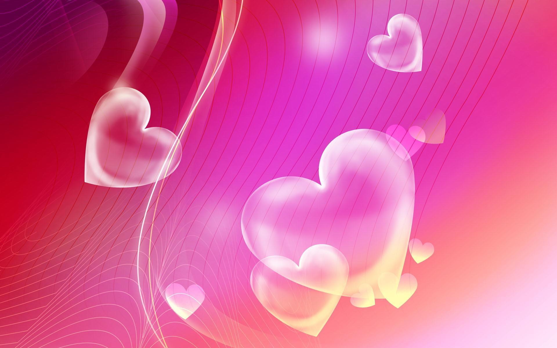 Pink Hearts Backgrounds 1920x1200