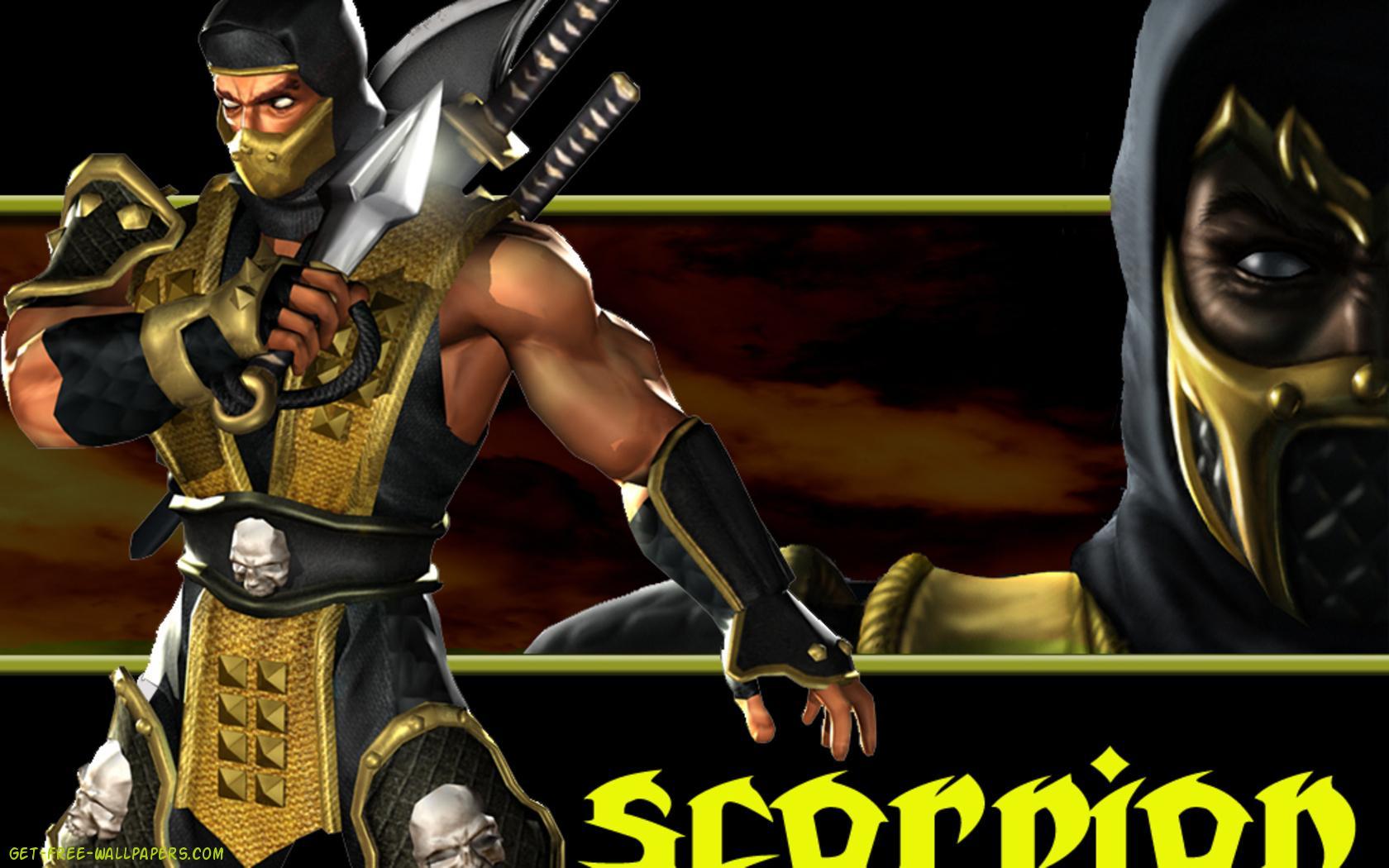 Download Mortal Kombat Scorpion Wallpaper 1680x1050