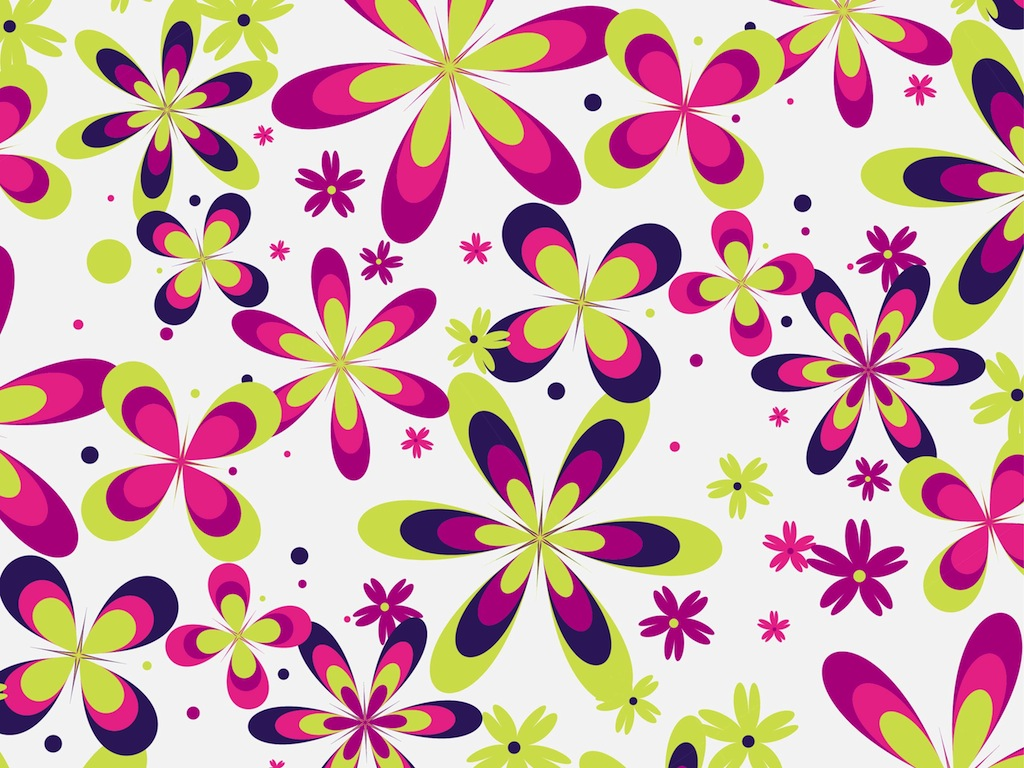 Girly Patterns Wallpaper Cute floral pattern vector 1024x768