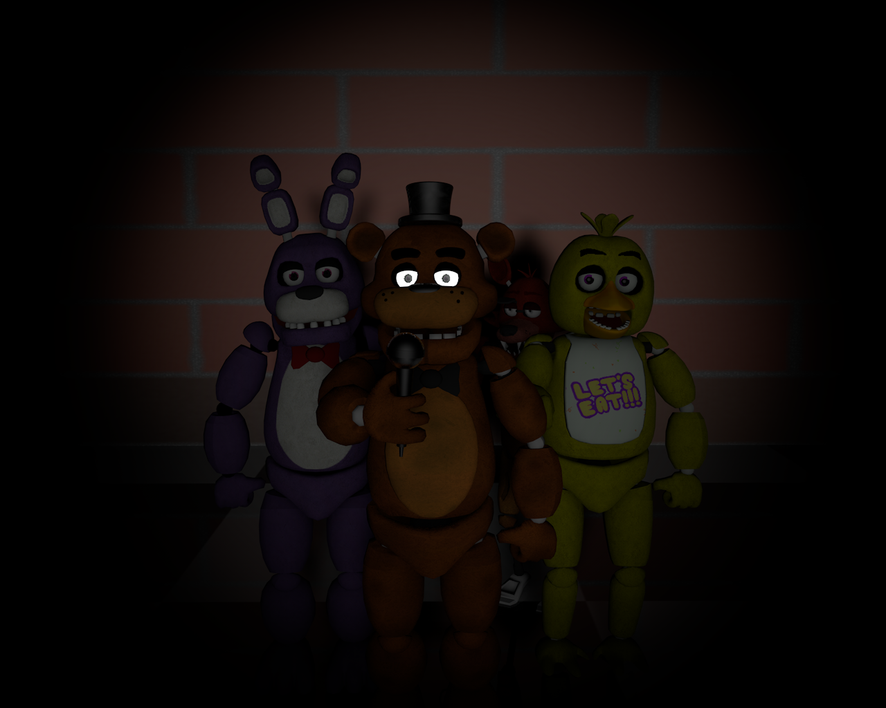 FNaF 1   Wallpaper by Offical Bunnie 1280x1024