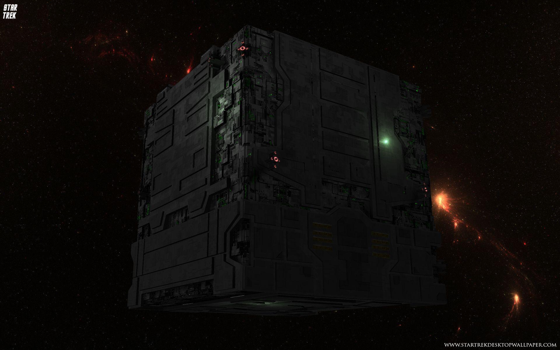 Star Trek Borg Tactical Cube   Star Trek computer desktop 1920x1200