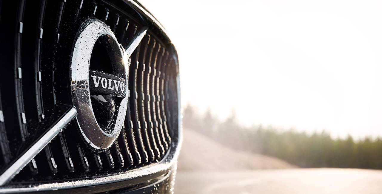 Wallpapers Volvo Logo Emblem V90 Cross Country Cars Closeup 1280x651
