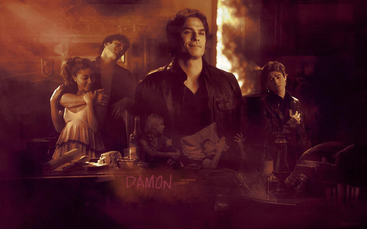 The Vampire Diaries TV Show images Damon wallpaper photos 1280x800