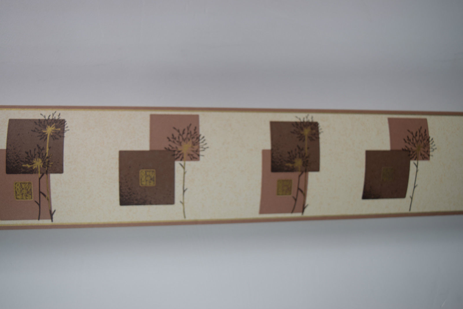 HOLDEN WALLPAPER BORDER MODERN DESIGN CHOCOLATE BROWN BRONZE TREES 1600x1069